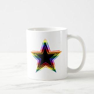 Estrella adaptable del arco iris (3) taza clásica