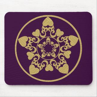 Estrella afiligranada adornada de Yule con los cor Alfombrillas De Ratones