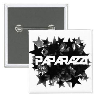 Estrella agrupada paparazzis pin cuadrado