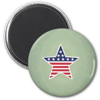 Estrella aislada con diseño de la bandera imán para frigorífico