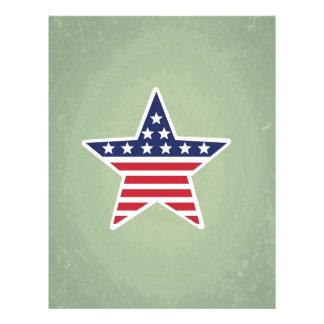 Estrella aislada con diseño de la bandera plantillas de membrete