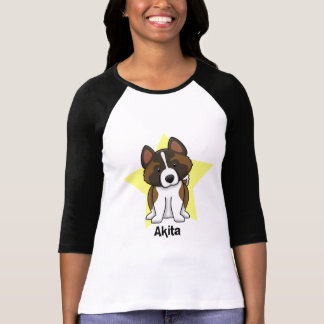 Estrella Akita de Kawaii Camiseta