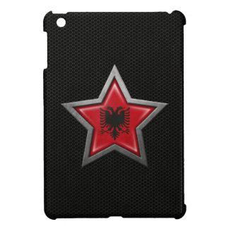 Estrella albanesa de la bandera con el efecto de a