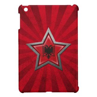 Estrella albanesa de la bandera con los rayos de l