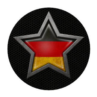 Estrella alemana de la bandera con el efecto de ac fichas de póquer