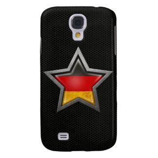 Estrella alemana de la bandera con el efecto de ac