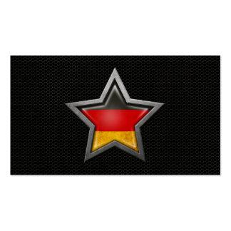 Estrella alemana de la bandera con el efecto de ac plantilla de tarjeta de visita