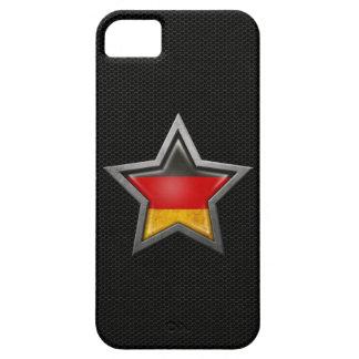 Estrella alemana de la bandera con el efecto de iPhone 5 carcasa