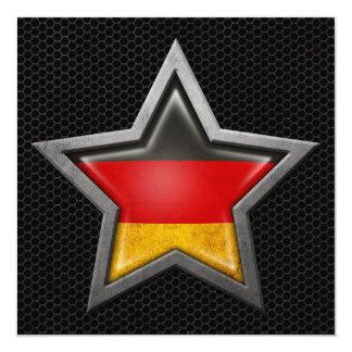 Estrella alemana de la bandera con el efecto de comunicados personalizados