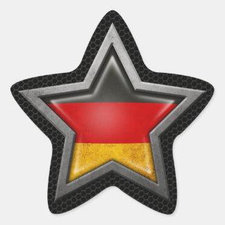 Estrella alemana de la bandera con el efecto de calcomanía forma de estrellae