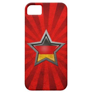 Estrella alemana de la bandera con los rayos de la iPhone 5 funda