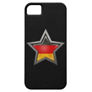 Estrella alemana de la bandera en negro iPhone 5 cárcasas