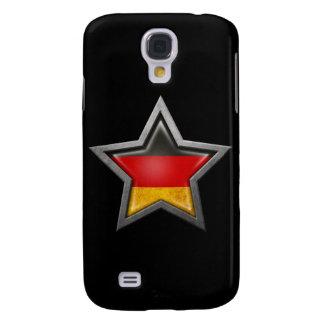 Estrella alemana de la bandera en negro