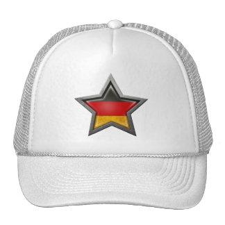 Estrella alemana de la bandera gorras