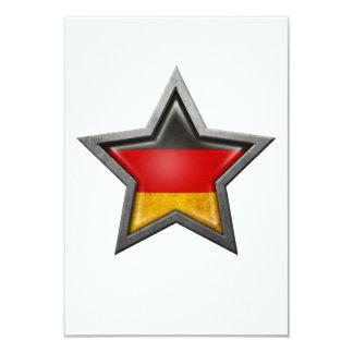 Estrella alemana de la bandera comunicados