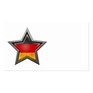 Estrella alemana de la bandera tarjetas de visita