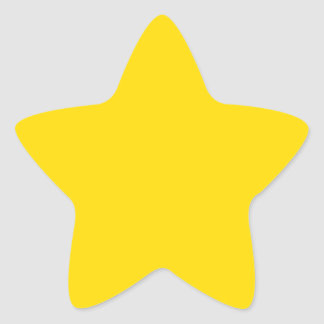 Estrella amarilla del color calcomanías forma de estrellas personalizadas