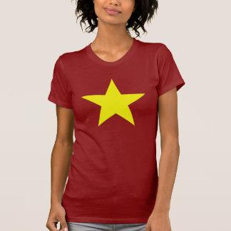 Estrella amarilla grande (la colocación de la camisetas