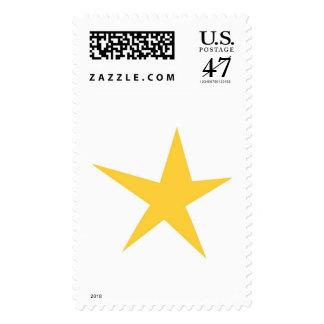 Estrella amarilla simple timbre postal