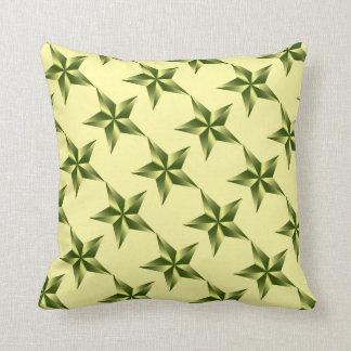 Estrella amarillo claro del verde caqui de la cojín