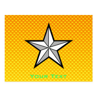 Estrella amarillo-naranja postales