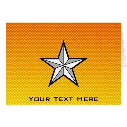 Estrella amarillo-naranja tarjetón