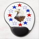 Estrella americana calva de Eagle Alfombrillas De Ratón Con Gel