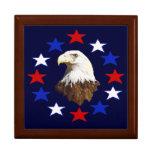 Estrella americana calva de Eagle Caja De Regalo