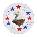 Estrella americana calva de Eagle Tablas Para Cortar