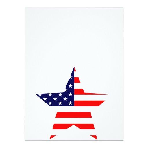 """Estrella americana invitación 5.5"""" x 7.5"""""""