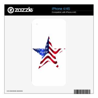 Estrella americana iPhone 4S skin