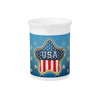 Estrella americana jarrones