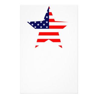 Estrella americana papelería personalizada