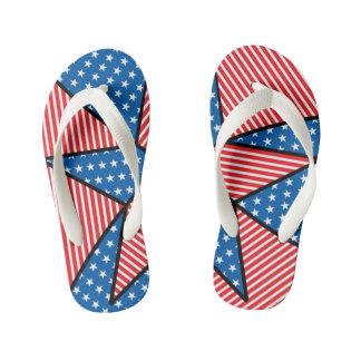 Estrella americana patriótica chanclas para niños