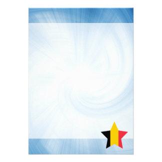 """Estrella amistosa de la bandera de Bélgica del Invitación 5"""" X 7"""""""