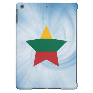 Estrella amistosa de la bandera de Lituania del Funda Para iPad Air