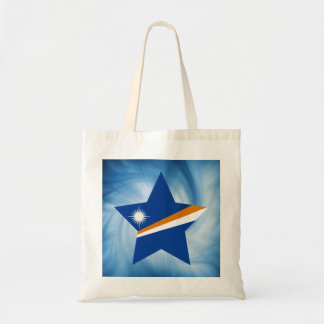 Estrella amistosa de la bandera de Marshall Bolsa Tela Barata