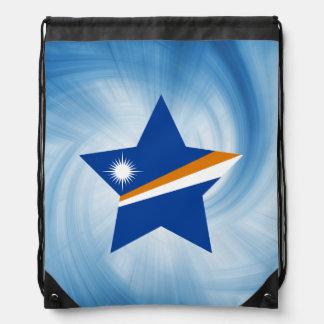 Estrella amistosa de la bandera de Marshall Mochilas