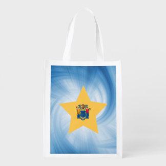 Estrella amistosa de la bandera de New Jersey del Bolsas De La Compra