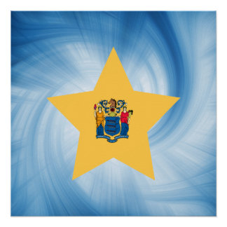Estrella amistosa de la bandera de New Jersey del Perfect Poster