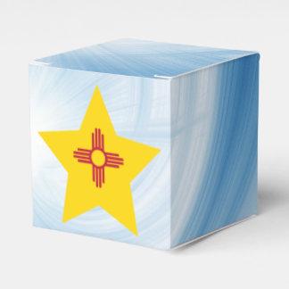 Estrella amistosa de la bandera de New México del Cajas Para Regalos