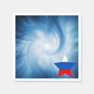 Estrella amistosa de la bandera de Rusia del niño Servilletas De Papel