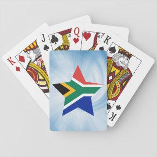 Estrella amistosa de la bandera de Suráfrica del Naipes
