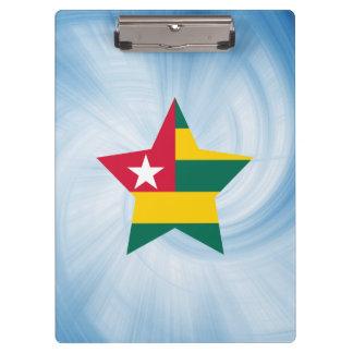 Estrella amistosa de la bandera de Togo del niño