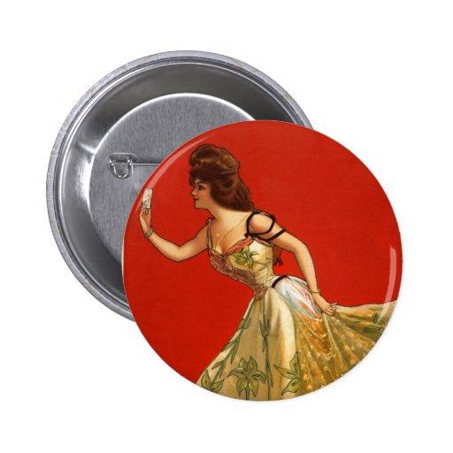 Estrella Ana del vodevil del Victorian detenido (1 Pin