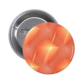 Estrella anaranjada del fractal pin redondo de 2 pulgadas