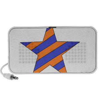 estrella anaranjada y azul altavoces de viaje