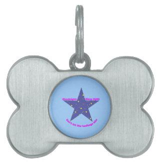 Estrella apretada del sueño de las buenas noches - placa mascota