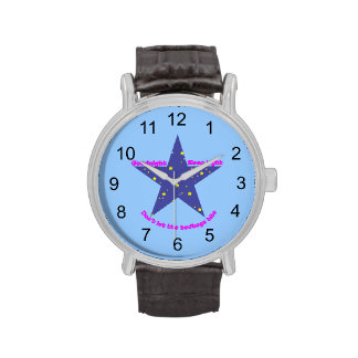 Estrella apretada del sueño de las buenas noches - relojes de pulsera
