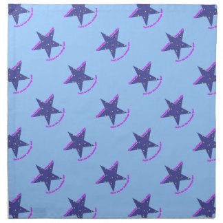 Estrella apretada del sueño de las buenas noches - servilletas imprimidas